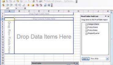 how to create a template from an existing pivot table and chart to